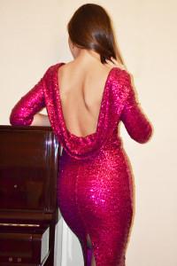 nacked back dress